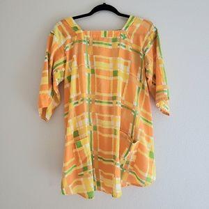 Vintage Handmade 1960s Tie Back Top